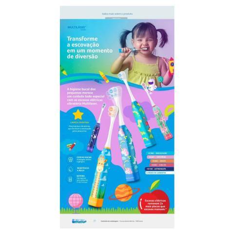 Imagem de Escova Dental Infantil Elétrica Unicórnio Kids Healt Pro - HC081