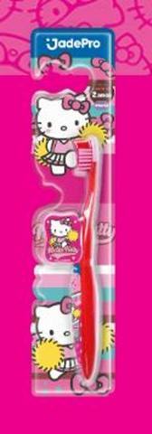 Imagem de Escova dental infantil hello kitty com protetor de cerdas