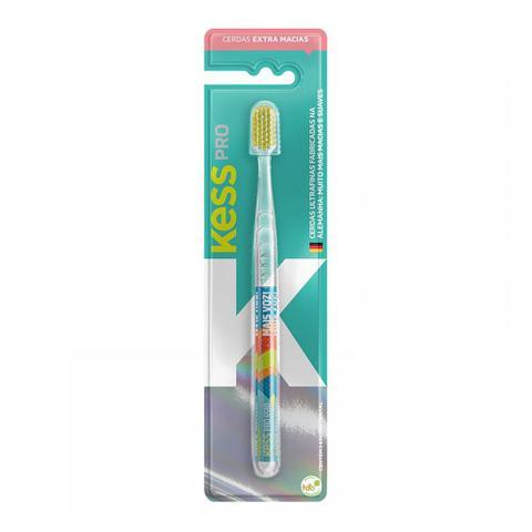 Imagem de Escova Dental Kess Pro Clear Extra Macia Cores Sortidas 1 Unidade + Capa Protetora