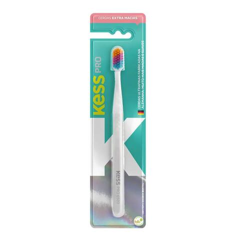 Imagem de Escova Dental Kess Pro Colorful Extra Macia Cores Sortidas 1 Unidade + Capa Protetora