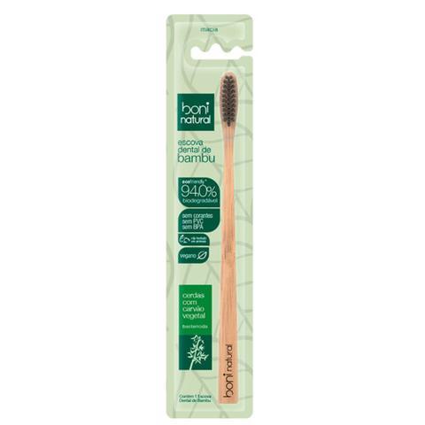 Imagem de Escova Dental Natural Vegana Bamboo e Cerdas de Carvão Boni