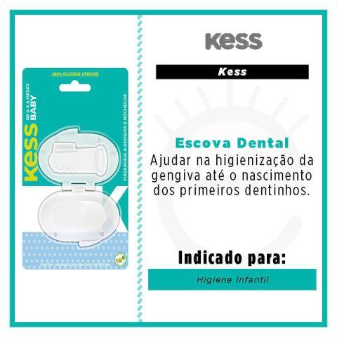 Imagem de Escova Dental Para Bebê Kess Massageadora Boca e Gengiva