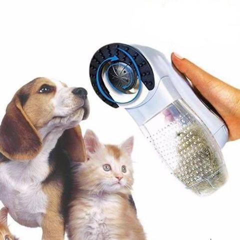 Imagem de Escova Elétrica Aspirador Suga Pelo Pet Cachorro E Gato Portátil (REF: PET-442)