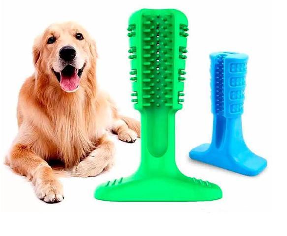 Imagem de Escova Mordedor Dente Cachorro Canino Medio Cao Pet Tartaro Limpeza Bucal Brinquedo Limpeza Pet Pequeno
