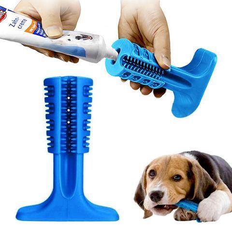 Imagem de Escova Mordedor Dentes Cachorro Canino Medio Cao Pet Tartaro Limpeza Bucal