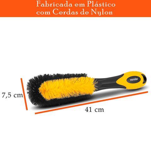 Imagem de Escova para Lavar Furo De Rodas Tipo Pepino Amarelo e Preto Vonder
