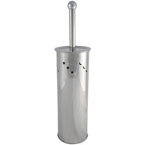Imagem de Escova Sanitária Banheiro Com Estojo Suporte De Aço Inox Higiênica