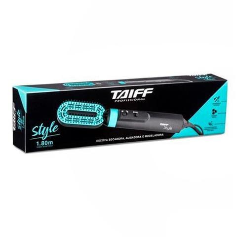 Imagem de Escova Taiff Style Secadora e Alisadora com 02 Temperaturas Preta e Azul Tiffany - 56000
