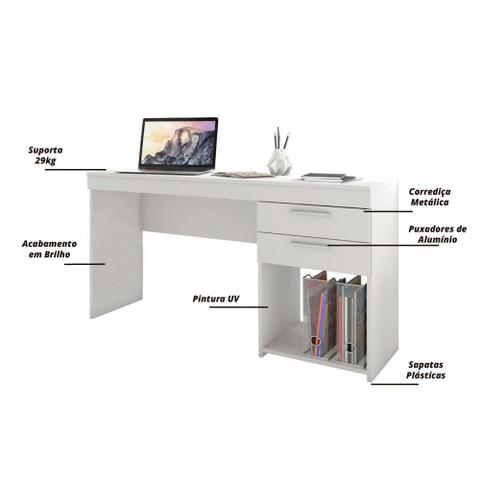 Imagem de Escrivaninha 2 Gavetas Notável Office Branco