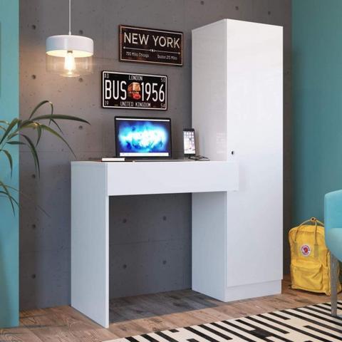 Imagem de Escrivaninha com Armário 1 Porta Genialflex