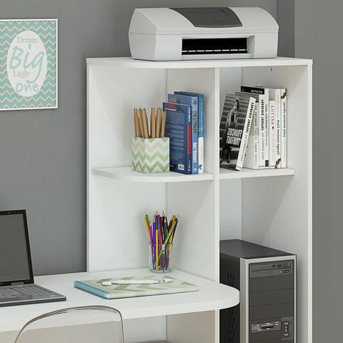 Imagem de Escrivaninha com Estante Elisa Permobili Branco