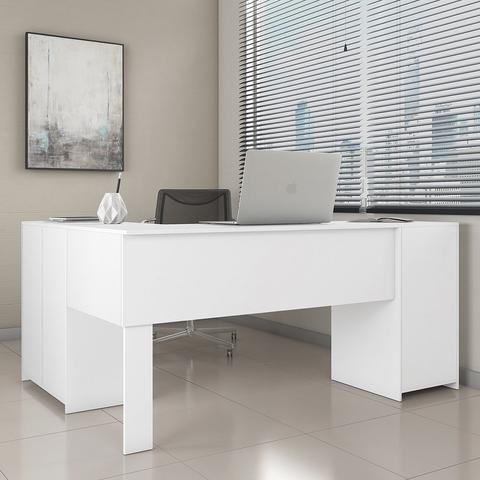 Imagem de Escrivaninha Em L Notável NT2005-127 Office Canto 2 Gavetas Branca