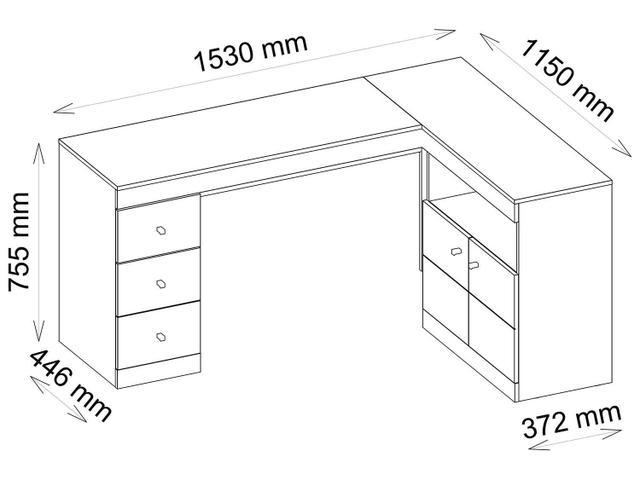Imagem de Escrivaninha/Mesa para Computador 2 Portas