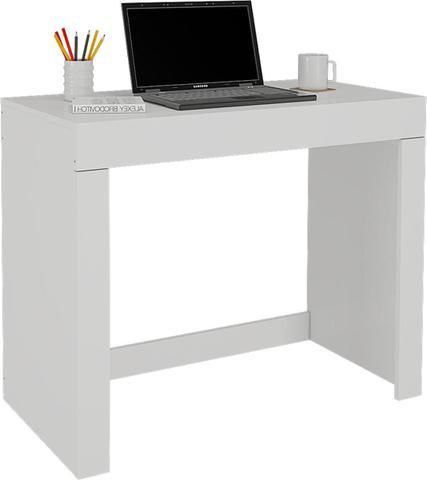 Imagem de Escrivaninha Mesa para Notebook com 1 Gaveta Cleo Branco - Permobili
