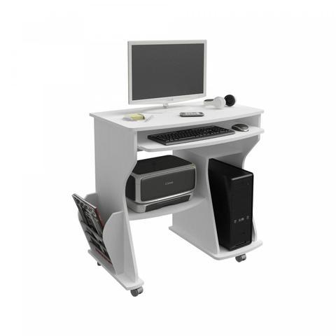 Imagem de Escrivaninha para Computador 2 Prateleiras 160 Artely Branco