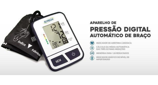 Imagem de Esfigmomanômetro Aparelho De Pressão Arterial Digital Braço