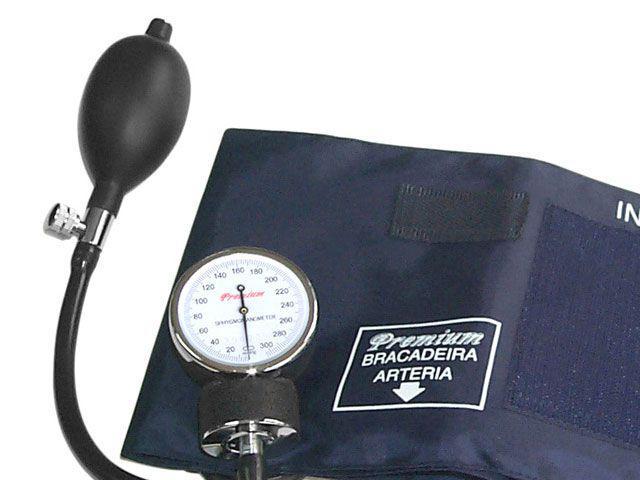 Imagem de Esfigmomanômetro Premium com Estetoscópio