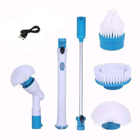 Imagem de Esfregão Escova De Limpeza Vassoura Elétrica  Automática Recarregável Bivolt Mop
