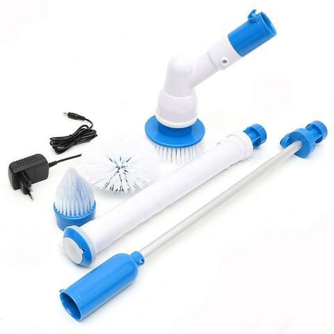 Imagem de Esfregão Escova De Limpeza Vassoura Elétrica Mop Power Scrub