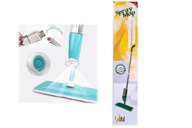 Imagem de Esfregão Mop Spray Vassoura Mágica Rodo Reservatório Limpa