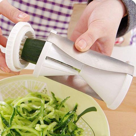 Imagem de Espaguete de Abobrinha Cortador de Legumes em Espiral Branco
