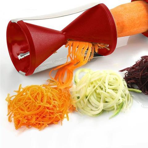 Imagem de Espaguete de Abobrinha Legumes em Espiral Fatiador Cortador
