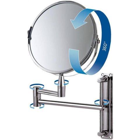 Imagem de Espelho Aumento Articulado 16 cm Dupla Face 360º MOR