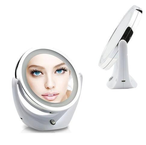 Imagem de Espelho com luz Led em volta Iluminador Facial Maquiagem