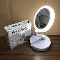 Imagem de Espelho De Luz Led Dobravel Aumenta 10x P/maquiagem Portátil