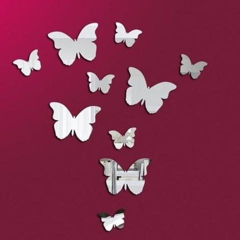 Imagem de Espelho Decorativo Borboletas 12 peças