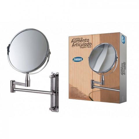 Imagem de Espelho Dupla Face com Aumento Giratorio Articulado de Parede Mor