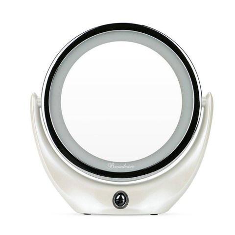 Imagem de Espelho Maquiagem Makeup LED Ampliação 5X Rotação 360 Graus Carregamento USB