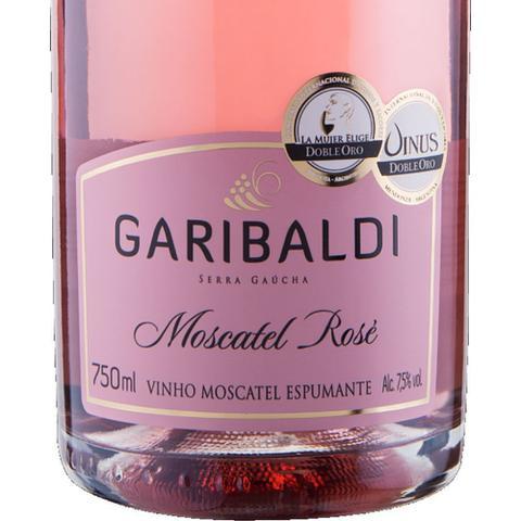 Imagem de Espumante Moscatel Rosé 750ml Garibaldi Kit 4