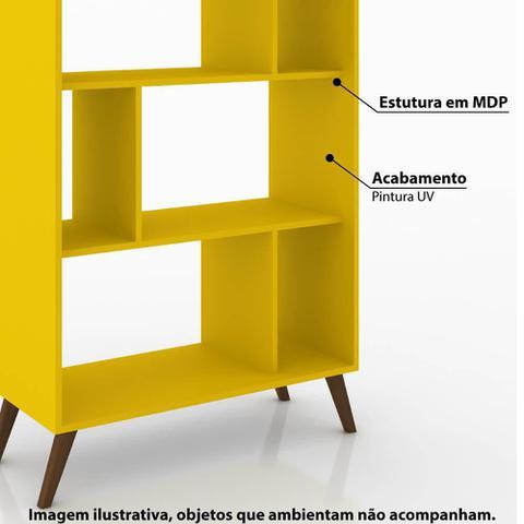 Imagem de Estante 6 Nichos com Pés Retrô  Amarelo