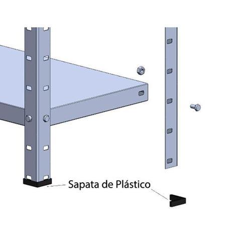 Imagem de Estante de Aço Multiuso 175x80x28cm 6 Prateleiras/Bandejas - Elite Aço