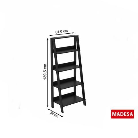Imagem de Estante Escada para Livros com 4 Prateleiras Madesa