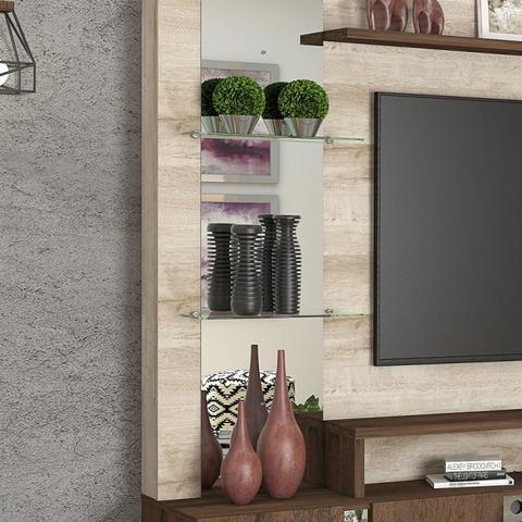 Imagem de Estante Home para TV até 55 Polegadas 4 Portas Munique Permobili Rústico/Café