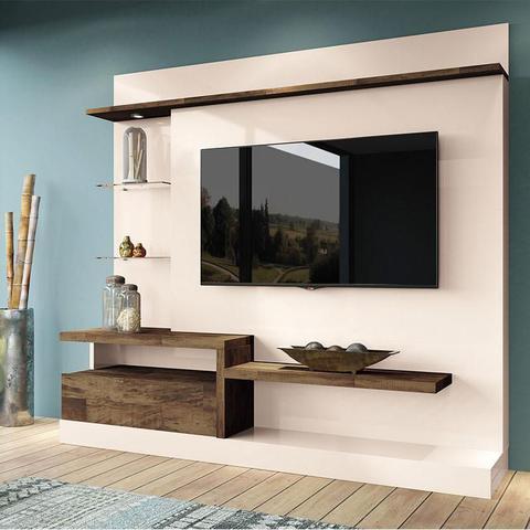 Imagem de Estante Home Theater Paládio Off White Deck  HB Móveis