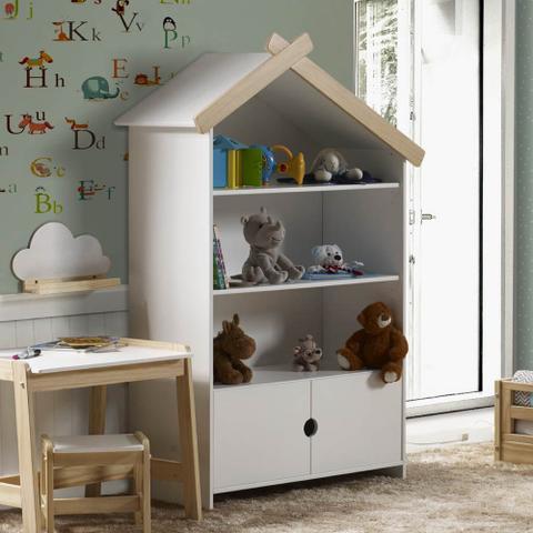 Imagem de Estante Infantil Casinha 2 Portas e 3 Nichos - Casatema
