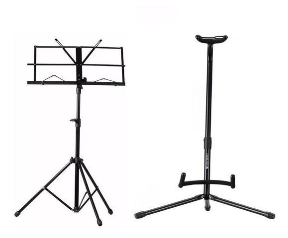 Imagem de Estante P/ Partitura Suporte Violão Pedestal Microfone ASK