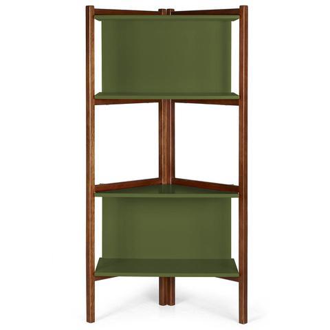 Imagem de Estante para Livros Easy Maxima Cacau/Verde Musgo