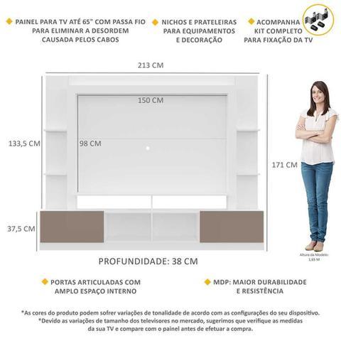 Imagem de Estante Rack com Painel e Suporte TV 65
