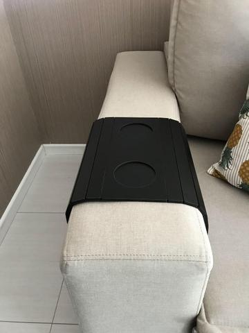 Imagem de Esteira Para Sofá  Com Porta Copos Cor Preta Innovarte