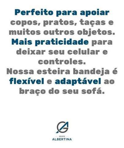 Imagem de Esteira Suporte Porta Copos para Braço Sofá - Apoio de Cerveja e porta Controle