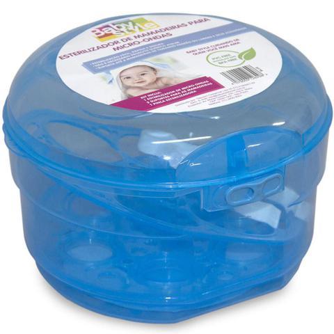 Imagem de Esterilizador De Microondas Mamadeiras E Chupetas Baby Style - Azul