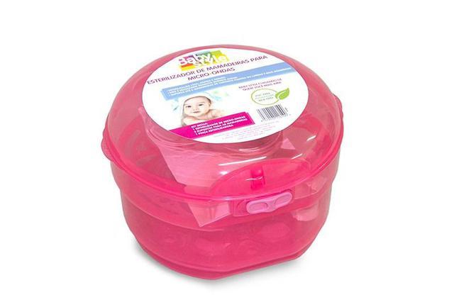 Imagem de Esterilizador De Microondas Mamadeiras E Chupetas Baby Style - Rosa