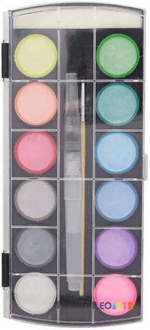 Imagem de Estojo Aquarela 12 Cores Metalica + Acqua Brush + Pincel Leo - Leonora