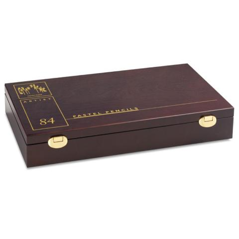 Imagem de Estojo de Madeira Luxo de Lápis Artístico Profissional Pastel Seco Caran DAche com 84 Cores  788  484