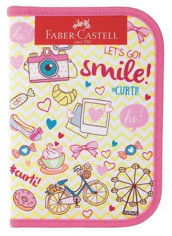 Imagem de Estojo Faber Castell Nylon c/18 itens - Lets.Go Amarelo