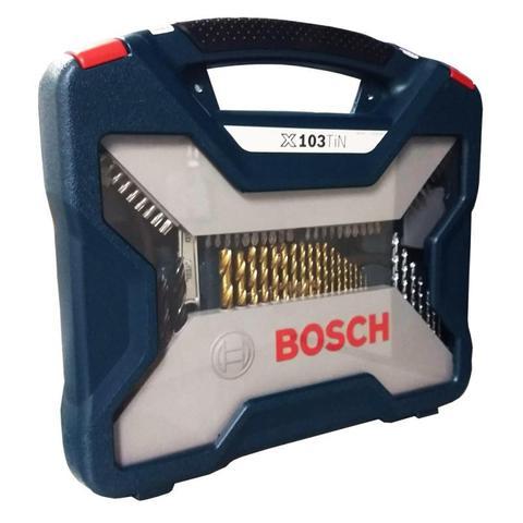 Imagem de Estojo Kit Jogo de Ferramentas com 103 Peças X-Line X103TiN Bosch